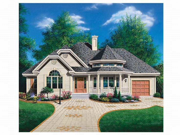 Unique House Plan, 027H-0010