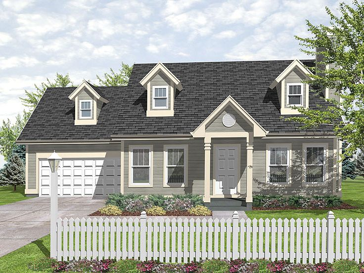 Good Cape Cod House Addition Ideas Part - 9: Cape Cod House Plan, 016H-0020