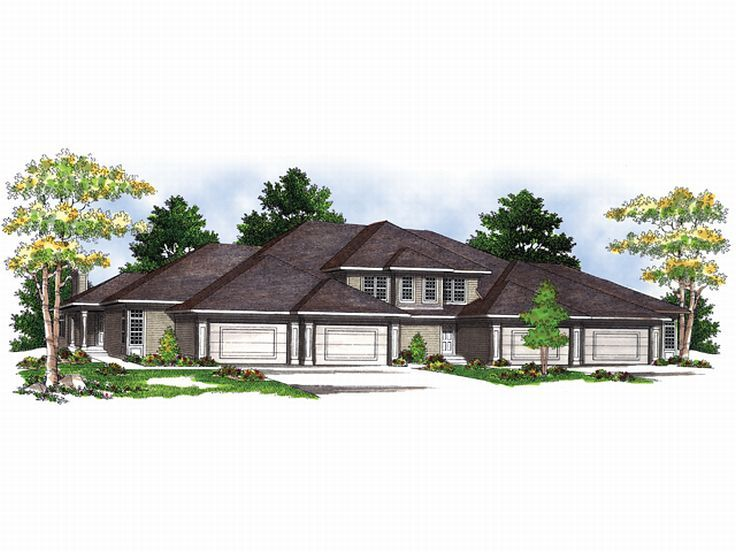 Plan 020m 0002 find unique house plans home plans and for 4 unit multi family house plans