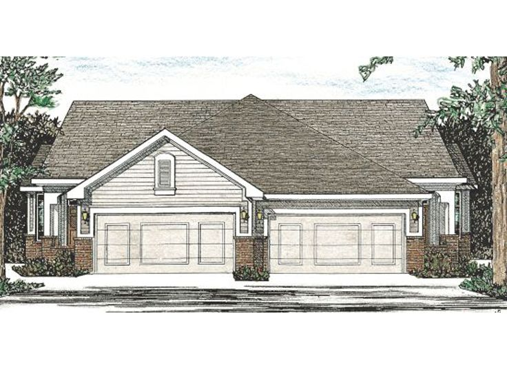 Duplex Home Plan, 031M-0003
