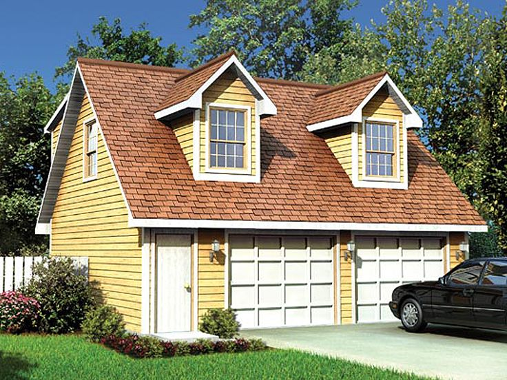 Pin living quarters above garage on pinterest for Single car garage with apartment