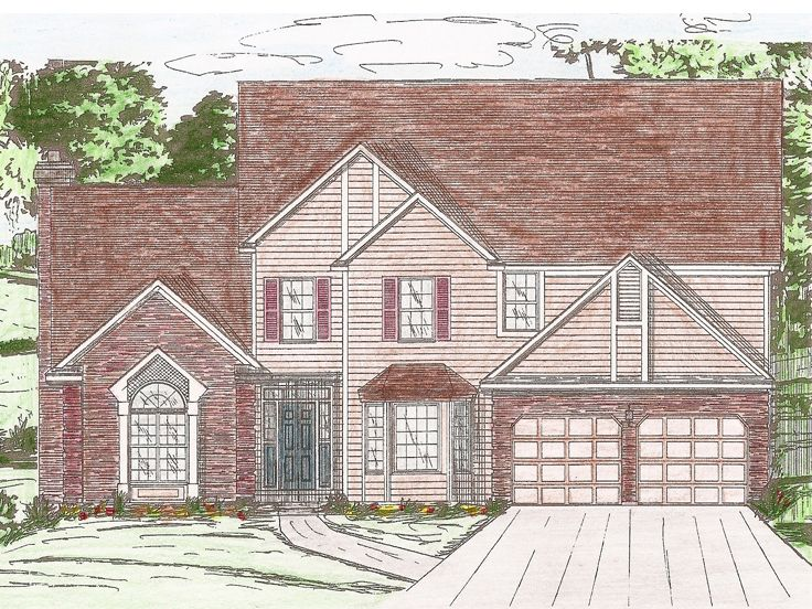 2-Story House Design, 009H-0056