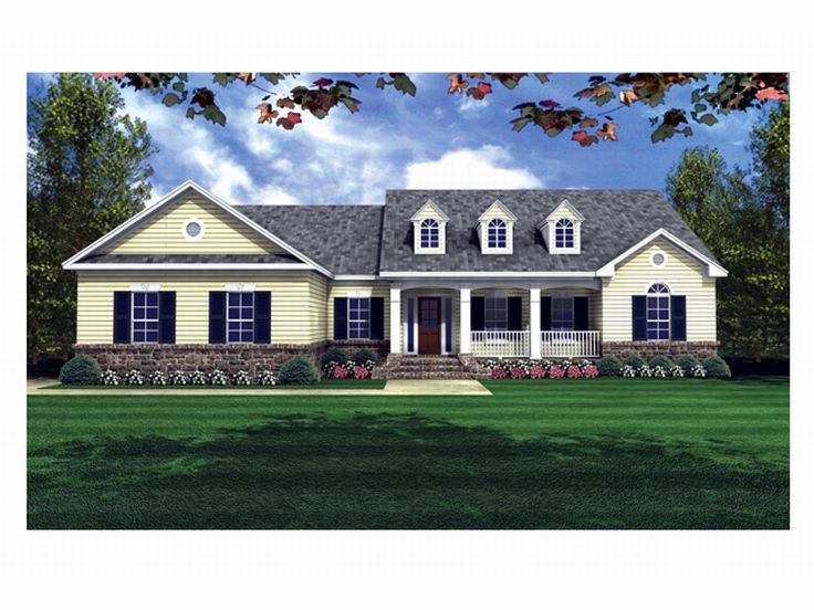 Ranch House Plan, 001H-0079