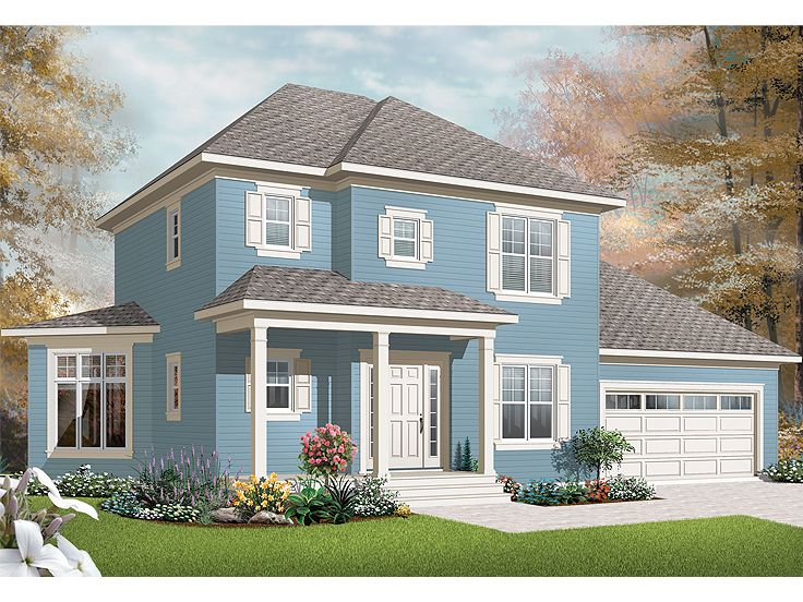 Two-Story House Plan, 027H-0171