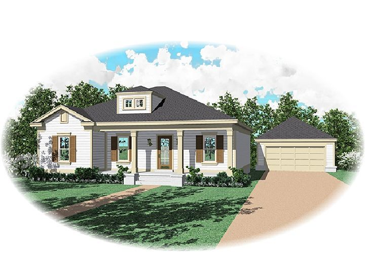 Ranch House Plan, 006H-0061