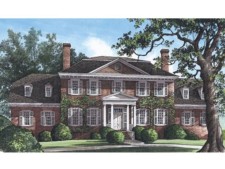Colonial Home Plan, 063H-0023