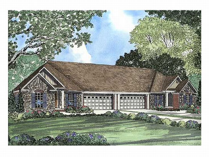 Duplex Home Plan, 025M-0032