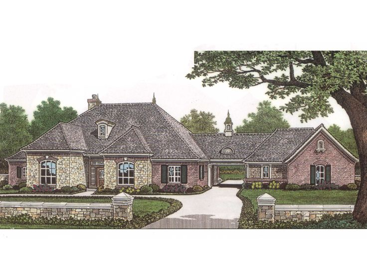 European House Plan, 002H-0025