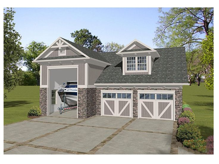 Garage plans with boat storage boat storage garage plan for 4 bay garage plans