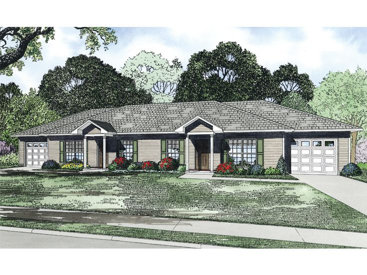 Duplex House Plan, 025M-0086