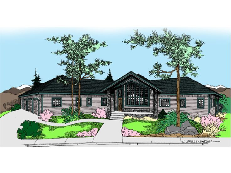 Contemporary House Plan, 013H-0093