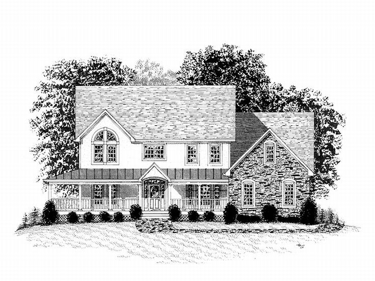 Country House Design, 007H-0093