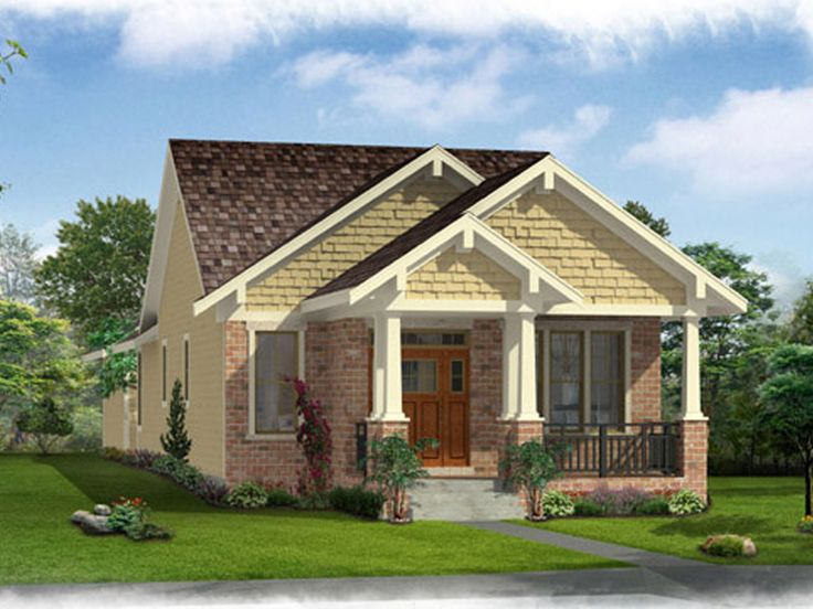 Bungalow house plans affordable empty nester bungalow for Small craftsman house plans with garage