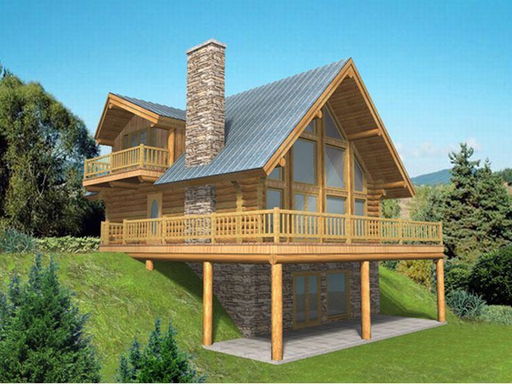 Waterfront Log Home, 012L-0028