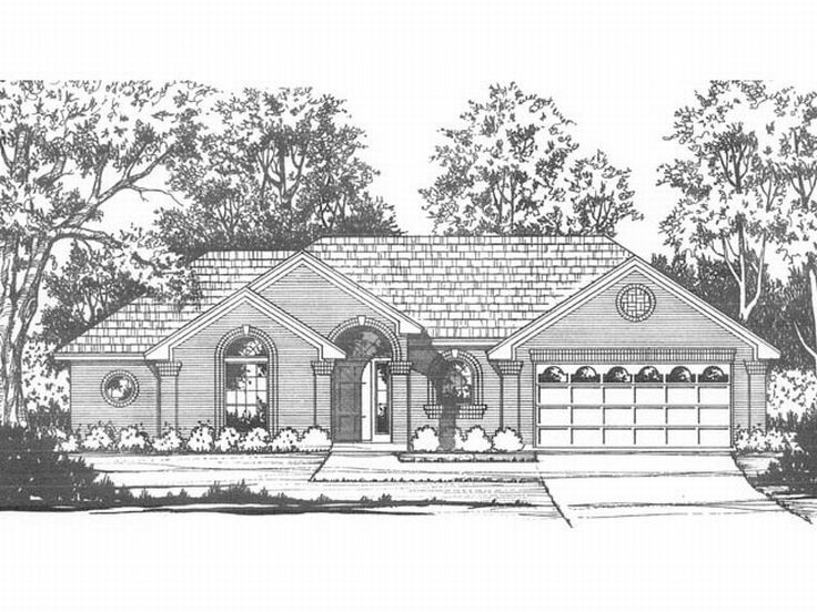 Traditional Home Plan, 015H-0105