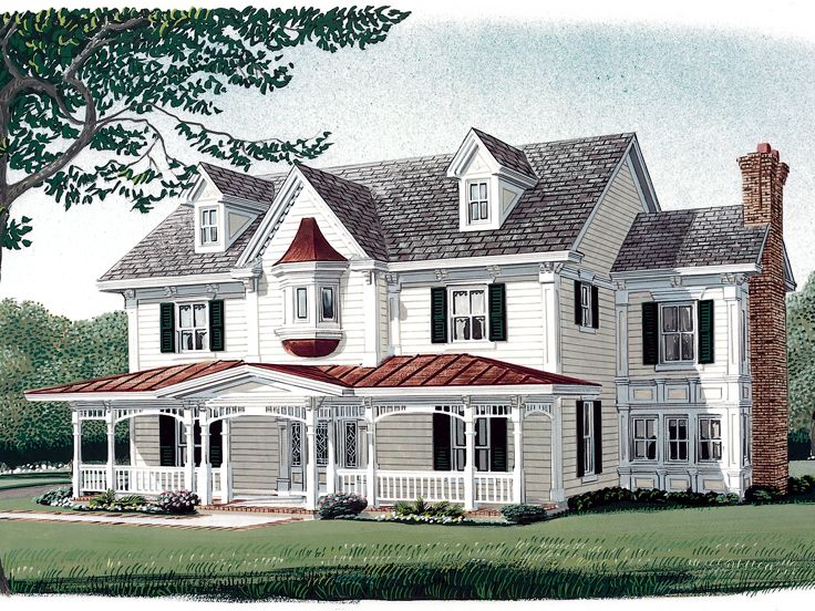 Country Victorian House, 054H-0081