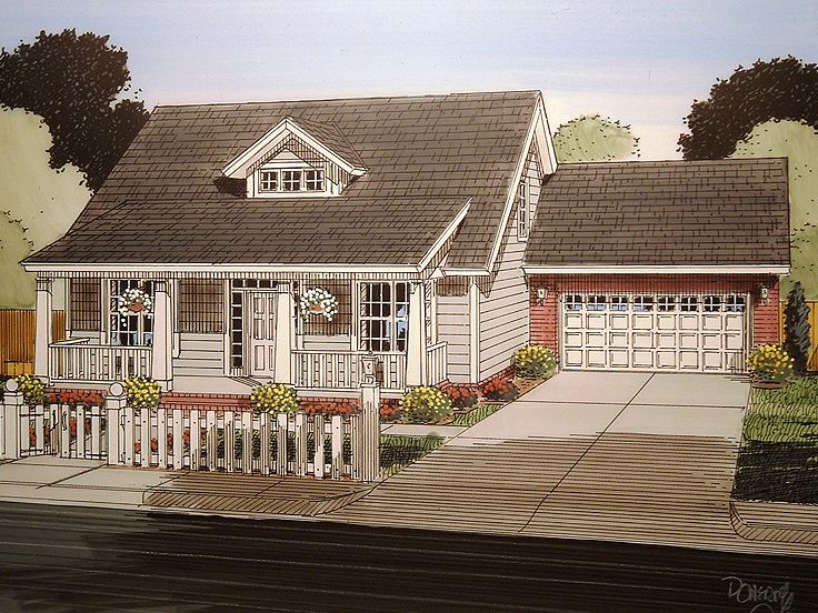 Bungalow Home Plan, 059H-0151