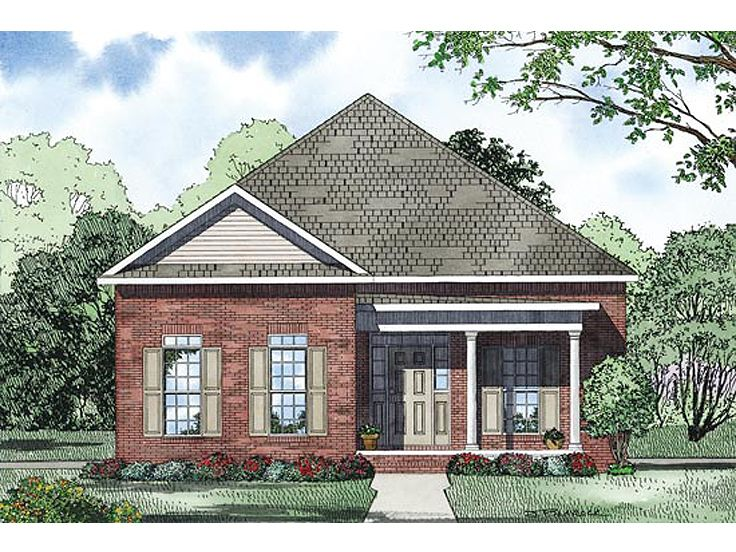 Southern Home Design, 025H-0237