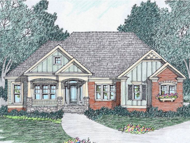 Craftsman European Home, 045H-0051