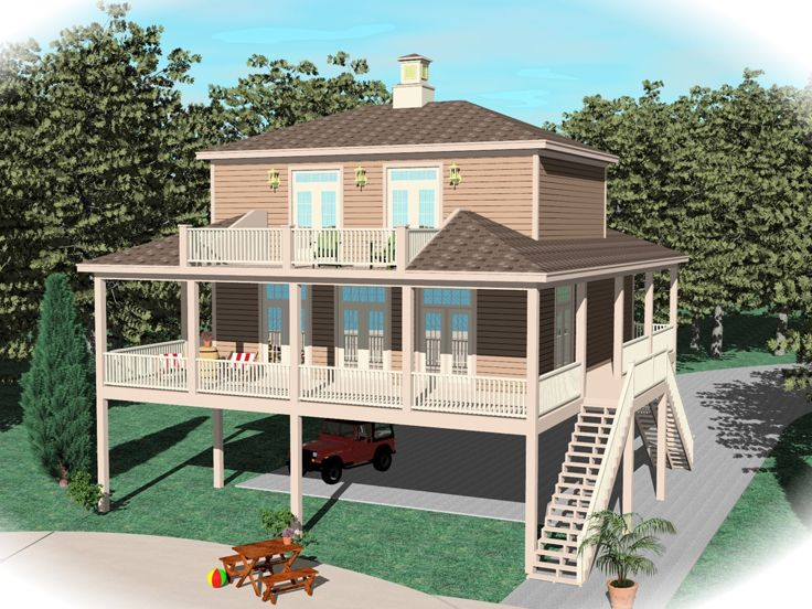 Coastal House Plan, 006H-0147