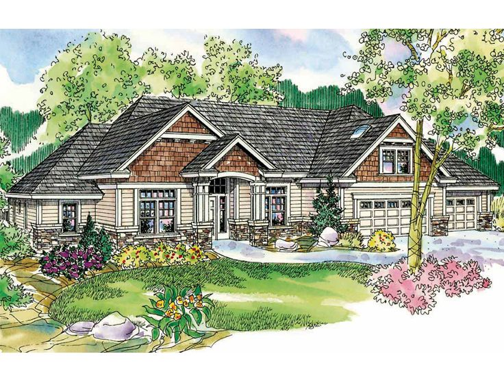 Craftsman House Plan, 051H-0046