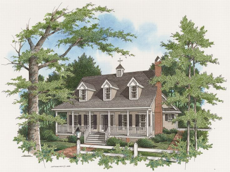 Country Home Design, 030H-0037