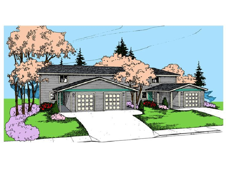 3 Unit Multi-Family Plan, 013M-0020