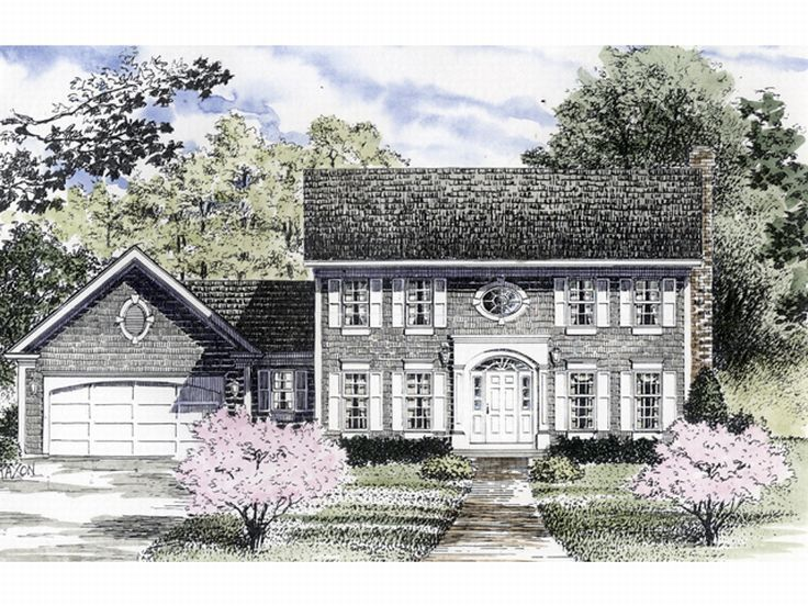 Colonial House Plan, 014H-0054