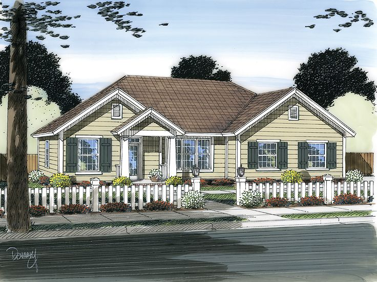 Traditional House Plan, 059H-0148