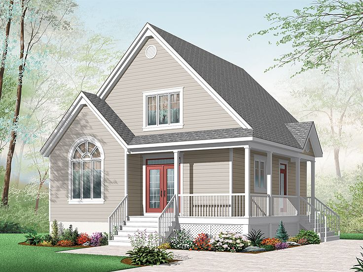 2 story small cottage house plans for Small two story floor plans