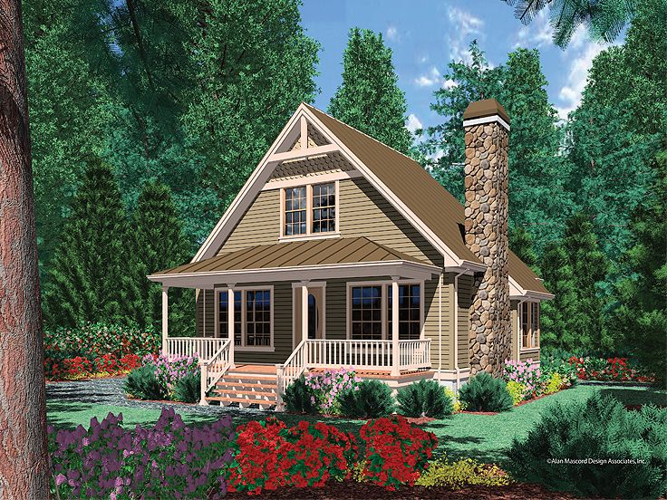 Cabin House Plan, 034H-0090