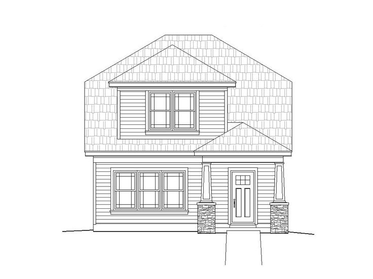 Bungalow House Plan, 062H-0022