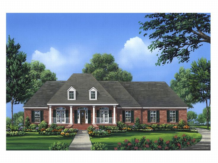 Ranch House Plan, 001H-0115
