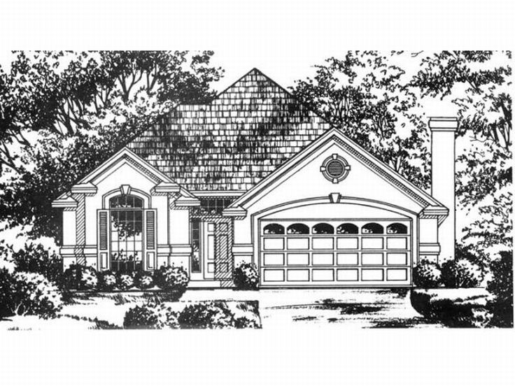 Florida Style Home Plan, 015H-0089