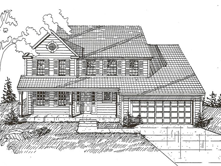 Country House Plan, 009H-0026