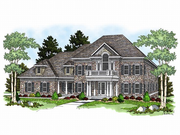 Luxury House Plan, 020H-0095