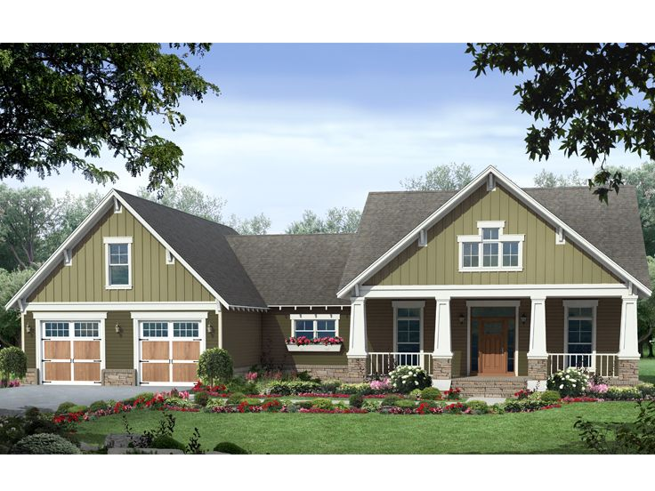 Craftsman home plans one story craftsman house plan with for Craftsman house plans with bonus room