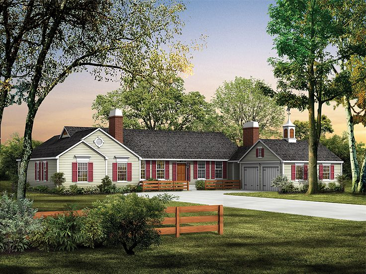 Country Home Plan, 057H-0001