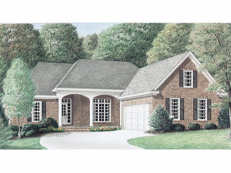 One-Story House Plan, 011H-0008