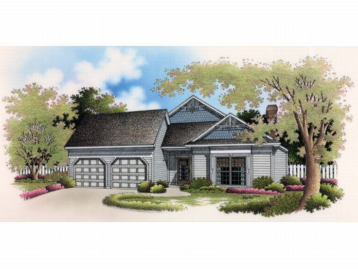 One-Story Home Plan, 021H-0074