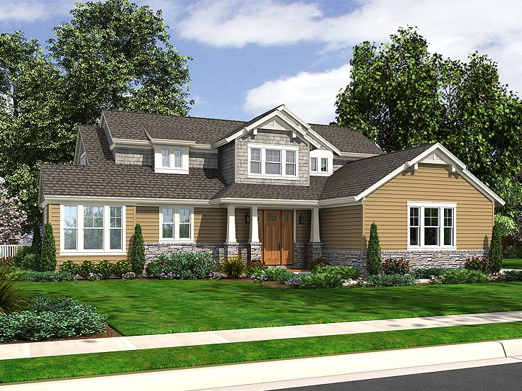 Craftsman House Plan, 046H-0060
