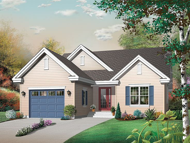 Ranch House Plan, 027H-0319