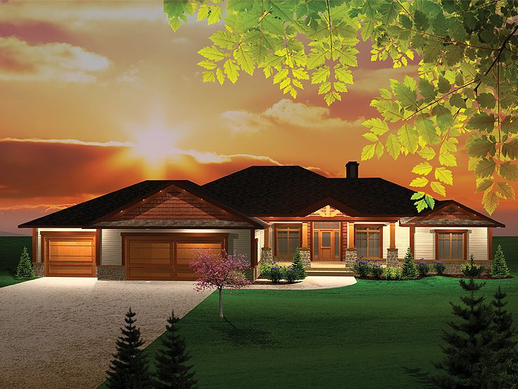 Ranch Home Design, 020H-0264