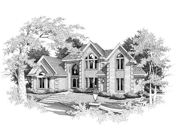 Two-Story Home Plan, 061H-0113