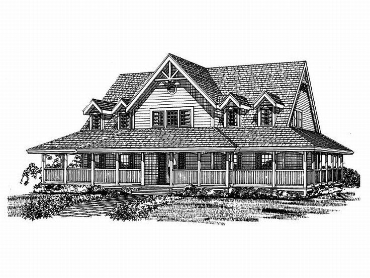 Country Home Design, 032H-0080