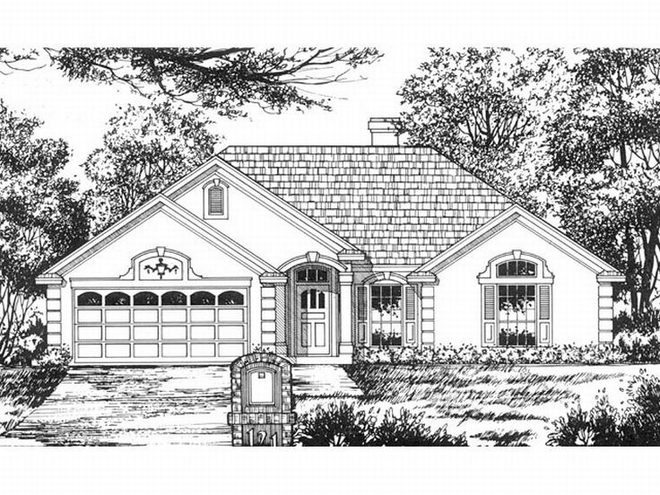 Sunbelt House Plan, 015H-0032