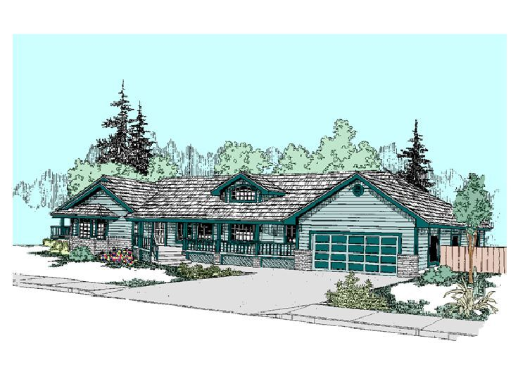 Ranch House Design, 013H-0010