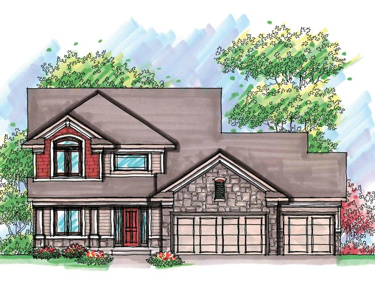 Two-Story Home Plan, 020H-0189