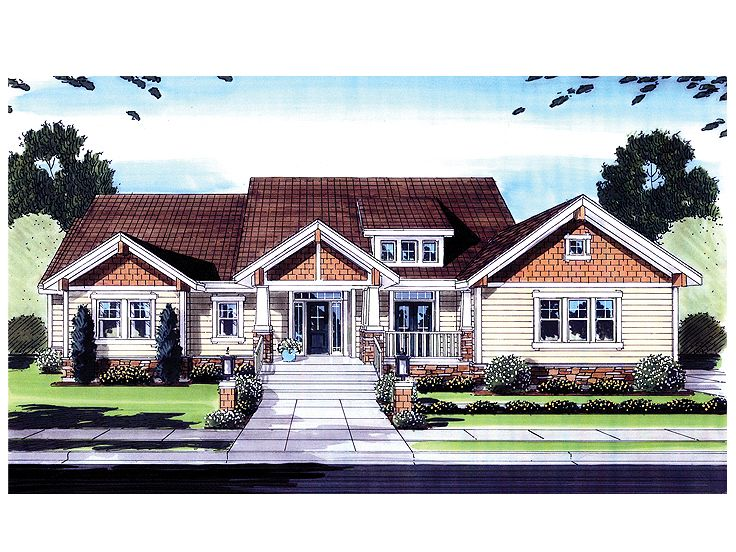 Craftsman House Plan, 046H-0036
