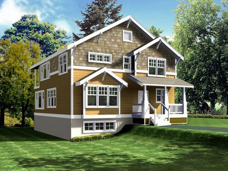 Narrow Lot House Design, 026H-0102